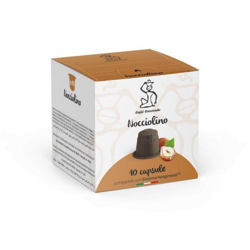 Horúci krém z lieskových orieškov Nocciolino v kapsule kompatibilnej s Nespresso 10 ks