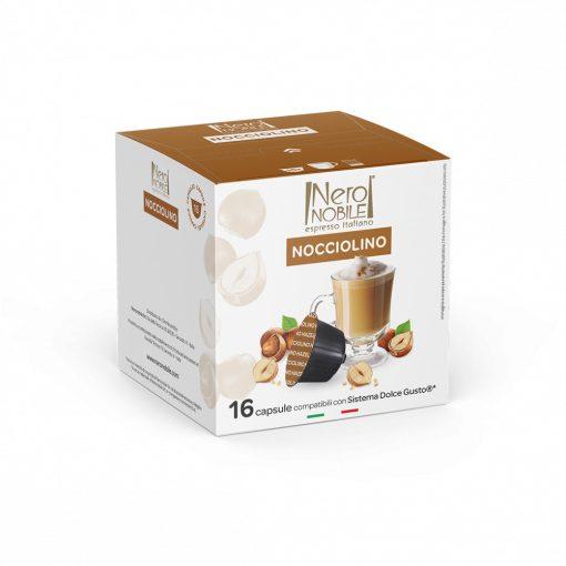 Horúci krém z lieskových orieškov Nocciolino v kapsule pre kávovary Dolce Gusto 16 ks