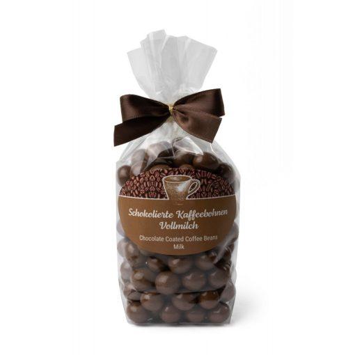 Kávové zrná v mliečnej čokoláde balené v celofáne 200g