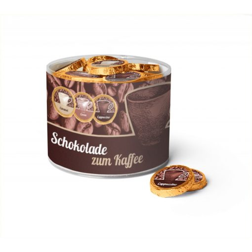 Čokoládový medailón s kávou Espresso, Cappuccino alebo s Karamelovou kávou  8gx60ks 480g