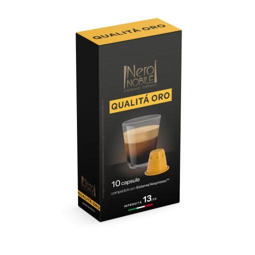 Kávová kapsula Qualita Oro kompatibilná s Nespresso 10 ks
