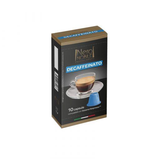 Bezkofeínová kávová kapsula kompatibilná s Nespresso 10 ks