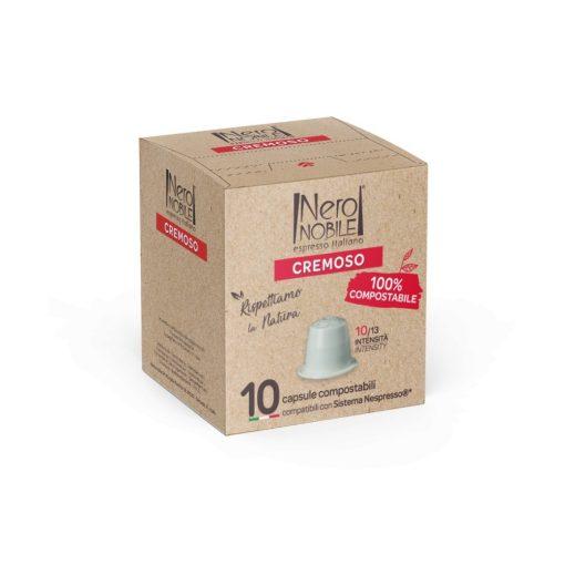 Kompostovateľné kávové kapsule Cremoso pre kávovary Nespresso 10 ks