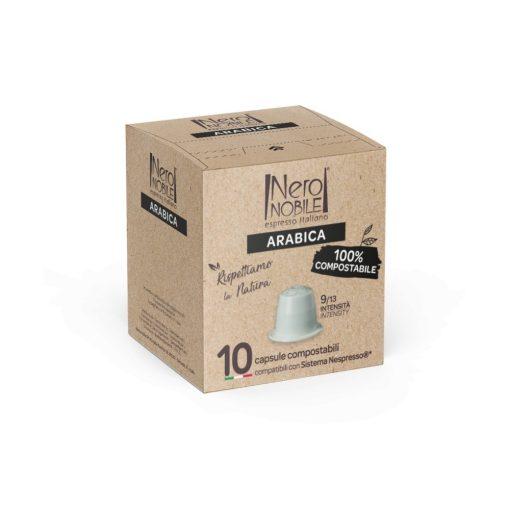Kompostovateľné kávové kapsule Arabica pre kávovary Nespresso 10 ks