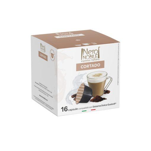 Kávová kapsula Cortado kompatibilná s Dolce Gusto 16 ks