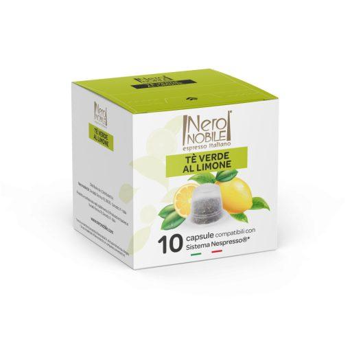Čajová kapsula zelený citrón pre kávovary Nespresso 10 ks